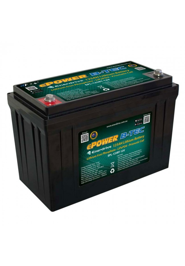 ePOWER B-TEC LiFeP04 12v 125Ah Lithium Battery