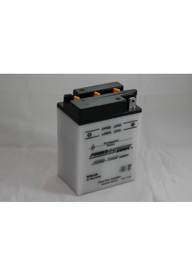 B38-6A Power Sonic 6v (wet) Motorcycle Battery