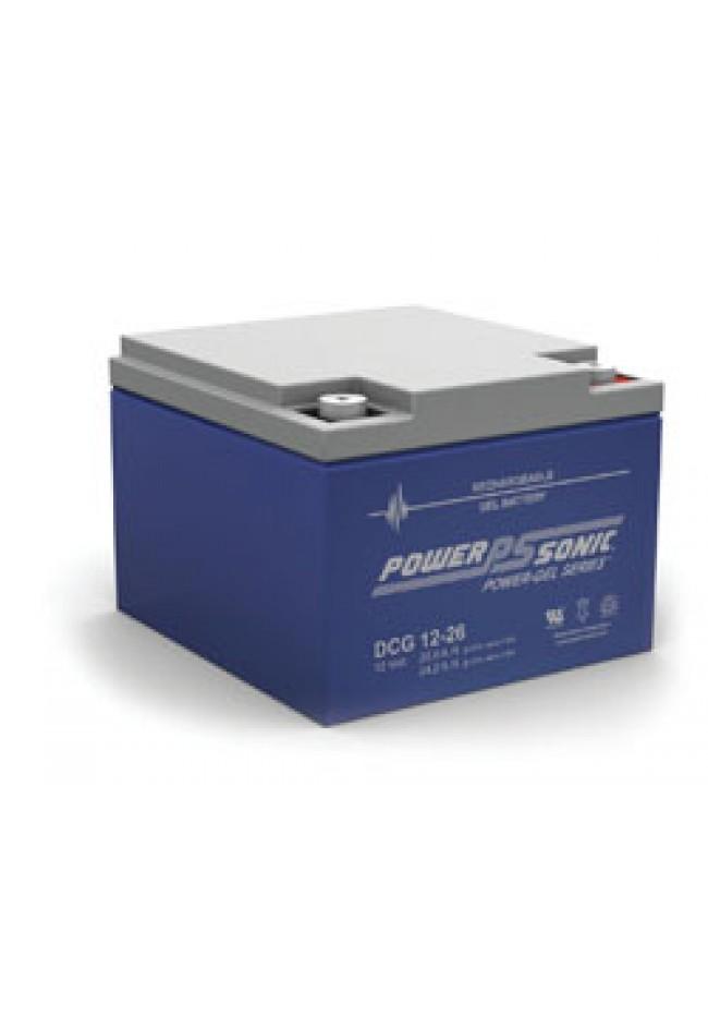 Power Sonic DCG1226 12v 26ah GEL AGM Deep Cycle Battery