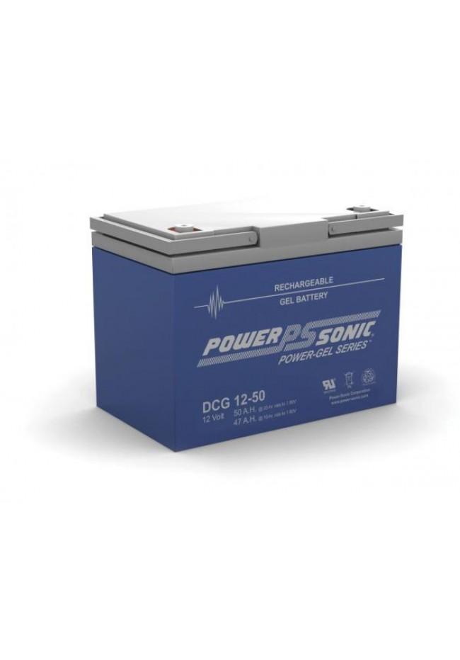 Power Sonic DCG1250 12v 50ah GEL AGM Deep Cycle Battery