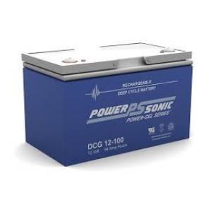 Power Sonic DCG12100 12v 100Ah GEL AGM Deep Cycle Battery