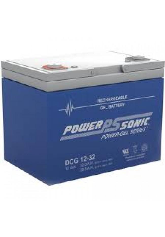 Power Sonic DCG1232 12v 32ah GEL AGM Deep Cycle Battery