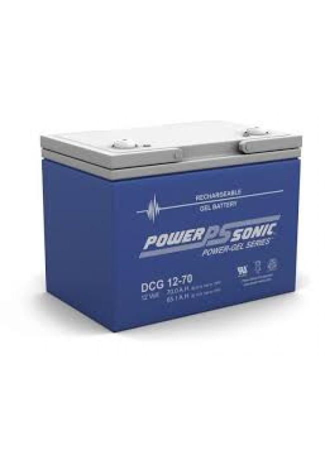 Power Sonic DCG1270 12v 70Ah GEL AGM Deep Cycle Battery