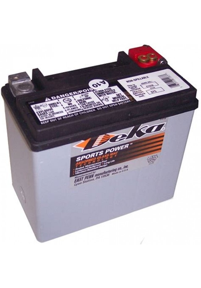 ETX16 Deka AGM Motorcycle Battery Made in USA