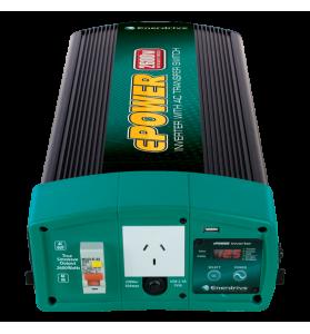 ePOWER 2600W 12V True Sine Wave Inverter with AC Transfer & Safety Switch EN1226S-X