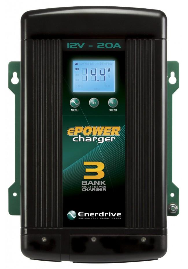 ePOWER 12V 20A Multi-Bank Battery Charger EN31220