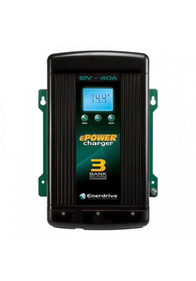 ePOWER 12V 40A Multi-Bank Battery Charger EN31240