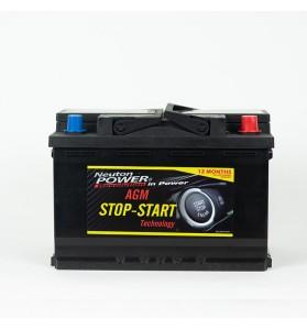 Stop-Start AGM Car Battery - VRL370 12V 760CCA