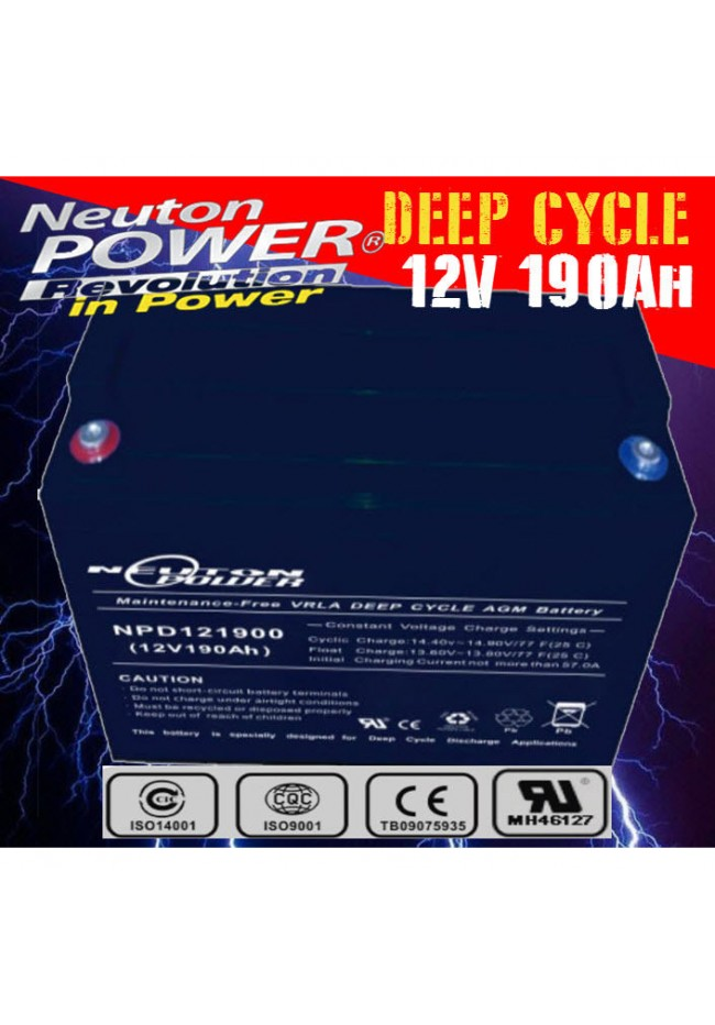 Neuton Power 12v 190ah AGM Deep Cycle Battery
