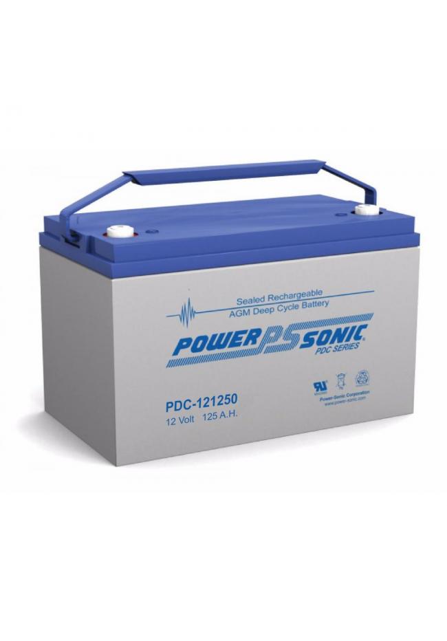 Power Sonic PDC121250 12v 125ah Deep Cycle AGM Battery