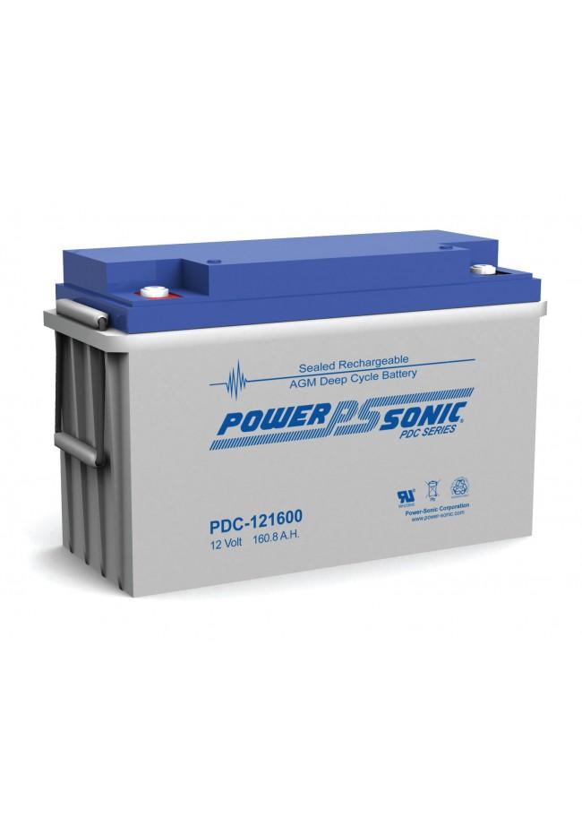 Power Sonic PDC121600 12v 160ah Deep Cycle AGM Battery