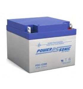 Power Sonic PDC12260 12v 28ah Deep Cycle AGM Battery