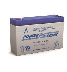 Power Sonic PS670 6v 7ah AGM Battery