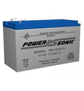 Power Sonic PS1270F1 12v 7ah AGM Battery