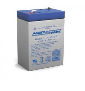 Power Sonic PS640 6v 4.5ah AGM Battery