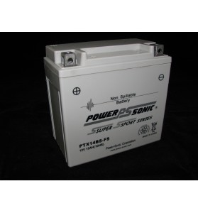PTX14BS-FS Power Sonic (YTX14BS) 12v AGM Motorcycle Battery