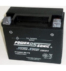 PTX20HLBS-FS Power Sonic (YTX20LBS) 12v AGM Motorcycle Battery