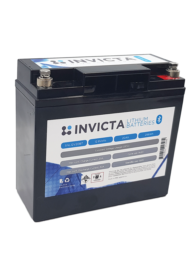 INVICTA SNL12V20BT 12V 20AH Lithium Deep Cycle Battery with Blue Tooth