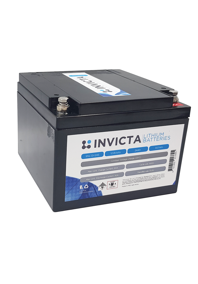 INVICTA SNL12V24S 12V 24AH Lithium Deep Cycle Battery