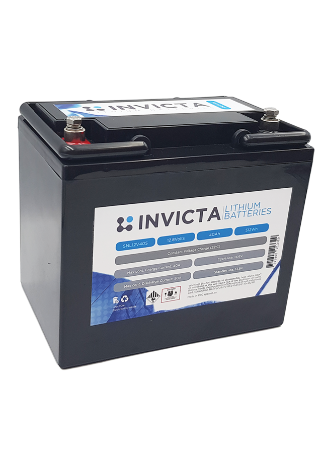 INVICTA SNL12V40BT 12V 40AH Lithium Deep Cycle Battery with Bluetooth