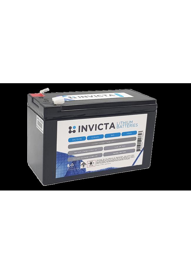 INVICTA SNL12V9S 12V 9AH Lithium Deep Cycle Battery