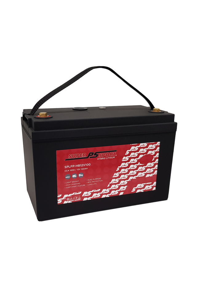 PS Super Sport SPLF-HB12V100 12v 100Ah 1200cca Hybrid Lithium Battery