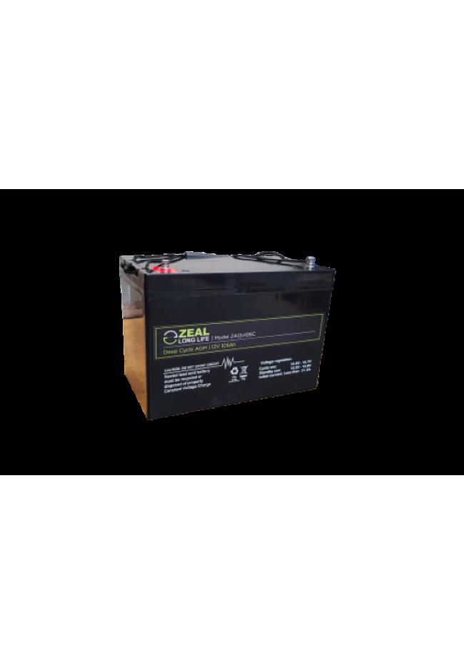 ZEAL SA12V105 12v 105Ah Deep Cycle AGM Battery