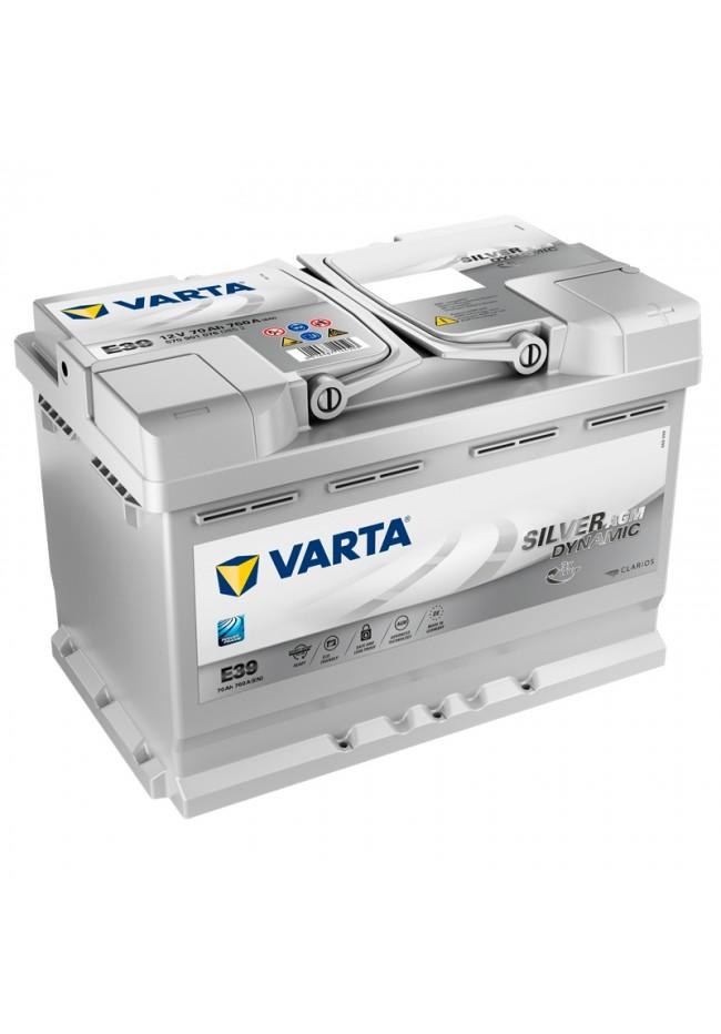 VARTA E39 12v 760cca SILVER DYNAMIC AGM STOP/START Battery