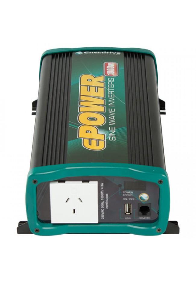 ePOWER EN1110S Pure Sine Wave Inverter 12v 1000 watt with Remote
