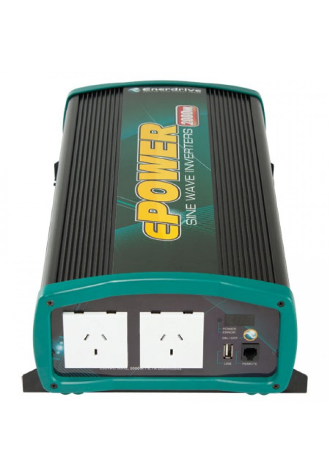 ePOWER EN1120S Pure Sine Wave Inverter 12v 2000 watt with Remote