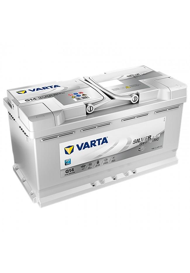 VARTA G14 12v 850cca SILVER DYNAMIC AGM STOP/START Battery